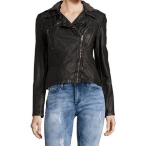 Free People Vegan Faux Leather Motorcycle Jacket